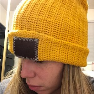 Love your melon mustard yellow knit hat